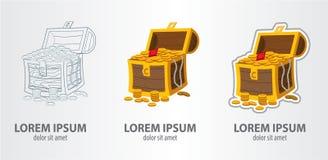 Στήθος θησαυρών λογότυπων Στοκ εικόνες με δικαίωμα ελεύθερης χρήσης