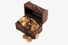 Στήθος νομισμάτων Στοκ φωτογραφία με δικαίωμα ελεύθερης χρήσης