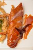 Στήθος παπιών που ψήνονται και tamarind σάλτσα Στοκ Φωτογραφία