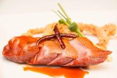 Στήθος παπιών που ψήνονται και tamarind σάλτσα Στοκ Εικόνα