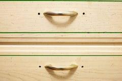 Στήθος του ξύλινου συρταριού στοκ φωτογραφία