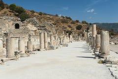 Στήλες σε Ephesus Στοκ φωτογραφία με δικαίωμα ελεύθερης χρήσης
