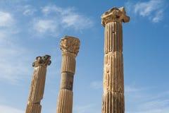 Στήλες σε Ephesus Στοκ Φωτογραφία