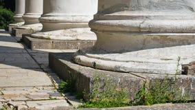 Στήλες της πρόσοψης του κτηρίου Στοκ Εικόνα