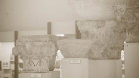Στήλες Antic σε ένα μουσείο, αρχιτεκτονικό υπόβαθρο Στοκ Εικόνες
