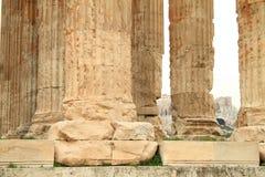Στήλες Antic στο ναό Zeus Στοκ εικόνα με δικαίωμα ελεύθερης χρήσης