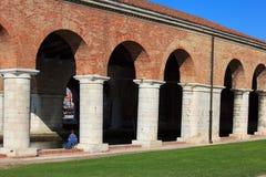 Στήλες Arsenale στη Βενετία Στοκ Φωτογραφία