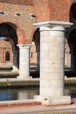 Στήλες Arsenale στη Βενετία Στοκ Εικόνα