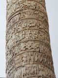 Στήλη από το Marcus Aurelius στη Ρώμη Στοκ Εικόνες