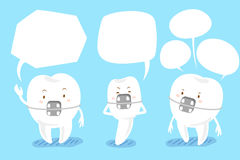 Στήριγμα δοντιών με τη λεκτική φυσαλίδα Στοκ Εικόνες