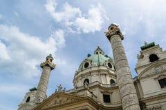 στήλες εκκλησιών Στοκ Φωτογραφία