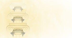 στήλες ελληνικά Ιοντικές στήλες, Στοκ Φωτογραφία