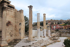 στήλες ελληνικά Στοκ Εικόνα