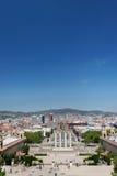 Στήλες και πηγή Montjuic Plaza de Espana Στοκ εικόνες με δικαίωμα ελεύθερης χρήσης