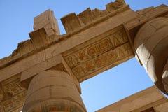 Στήλες με το αρχαίο αιγυπτιακό hieroglyphics Στοκ εικόνα με δικαίωμα ελεύθερης χρήσης