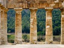 Στήλες ναών στη Σικελία Στοκ Εικόνα