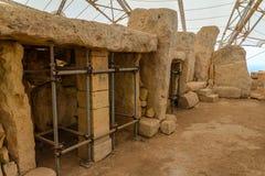 Στήλες ναών Qim Hagar Στοκ Φωτογραφίες