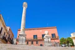 στήλες Ρωμαίος Μπρίντιζι Πούλια Ιταλία Στοκ φωτογραφία με δικαίωμα ελεύθερης χρήσης
