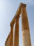 Στήλες σε Jerash, Ιορδανία Στοκ Φωτογραφία