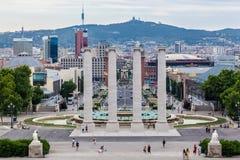 Στήλες της Βαρκελώνης καταλωνία Στοκ Εικόνα