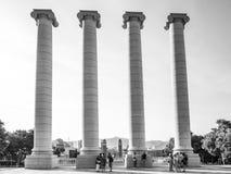 Στήλες της Βαρκελώνης Στοκ εικόνες με δικαίωμα ελεύθερης χρήσης