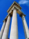 Στήλες του λιμενικού ναού στο αρχαιολογικό πάρκο σε Xanten, North Rhine-Westphalia, Γερμανία Στοκ Φωτογραφία
