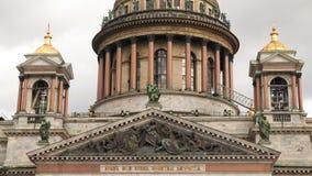 Στήλες του καθεδρικού ναού του ST Isaac ` s Αγία Πετρούπολη απόθεμα βίντεο