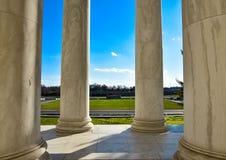 Στήλες του μνημείου του Thomas Jefferson Washington DC, ΗΠΑ Στοκ φωτογραφία με δικαίωμα ελεύθερης χρήσης