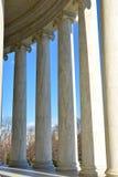 Στήλες του μνημείου του Thomas Jefferson Washington DC, ΗΠΑ Στοκ Εικόνες