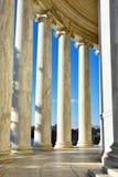 Στήλες του μνημείου του Thomas Jefferson Washington DC, ΗΠΑ Στοκ Φωτογραφία