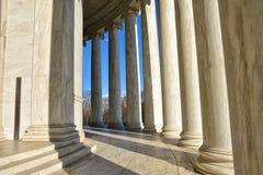 Στήλες του μνημείου του Thomas Jefferson Washington DC, ΗΠΑ Στοκ εικόνες με δικαίωμα ελεύθερης χρήσης
