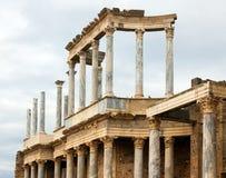 Στήλες του ρωμαϊκού θεάτρου στο Μέριντα Στοκ Εικόνες
