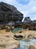 Στήλες των βράχων ασβεστόλιθων Στοκ φωτογραφίες με δικαίωμα ελεύθερης χρήσης