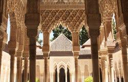 Στήλες Alhambra Στοκ φωτογραφία με δικαίωμα ελεύθερης χρήσης