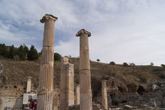 Στήλες Ephesus Στοκ Φωτογραφία