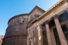 Στήλες Pantheon - καταπληκτική Ρώμη, Ιταλία Στοκ Φωτογραφία
