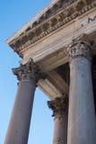 Στήλες Pantheon - καταπληκτική Ρώμη, Ιταλία Στοκ Εικόνα