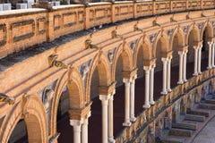 Στήλες plaza de espana Σεβίλη Στοκ Φωτογραφίες
