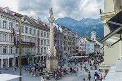 Στήλη Αγίου Anne στο Ίνσμπρουκ, Αυστρία. Στοκ Εικόνες