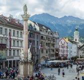 Στήλη Αγίου Anne στο Ίνσμπρουκ, Αυστρία. Στοκ φωτογραφίες με δικαίωμα ελεύθερης χρήσης