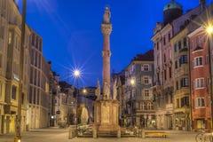 Στήλη Αγίου Anne στο Ίνσμπρουκ, Αυστρία Στοκ φωτογραφία με δικαίωμα ελεύθερης χρήσης