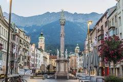 Στήλη Αγίου Anne στο Ίνσμπρουκ, Αυστρία Στοκ Εικόνες