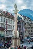 Στήλη Αγίου Anne στο Ίνσμπρουκ, Αυστρία Στοκ εικόνες με δικαίωμα ελεύθερης χρήσης