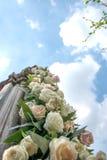 Στήλη ντεκόρ λουλουδιών Στοκ φωτογραφίες με δικαίωμα ελεύθερης χρήσης
