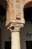 Στήλη του Plaza Chica, μικρό τετράγωνο, Zafra, επαρχία Badajoz, Εστρεμαδούρα, Ισπανία Στοκ φωτογραφία με δικαίωμα ελεύθερης χρήσης