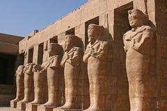 Στήλη των μουμιών στο ναό Karnak, Αίγυπτος στοκ εικόνα με δικαίωμα ελεύθερης χρήσης