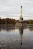 Στήλη Chesme στο πάρκο της Catherine σε Pushkin Στοκ φωτογραφίες με δικαίωμα ελεύθερης χρήσης