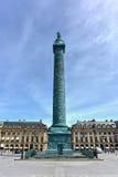 Στήλη Vendome θέσεων - Παρίσι, Γαλλία Στοκ Εικόνες