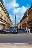 Στήλη Vendome με το άγαλμα Napoleon Bonaparte, στη θέση Β Στοκ εικόνα με δικαίωμα ελεύθερης χρήσης