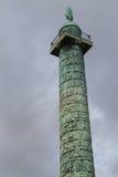 Στήλη Vendome στο Παρίσι Στοκ φωτογραφίες με δικαίωμα ελεύθερης χρήσης